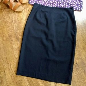 NWOT Black Business Pencil Dressy Midi Skirt